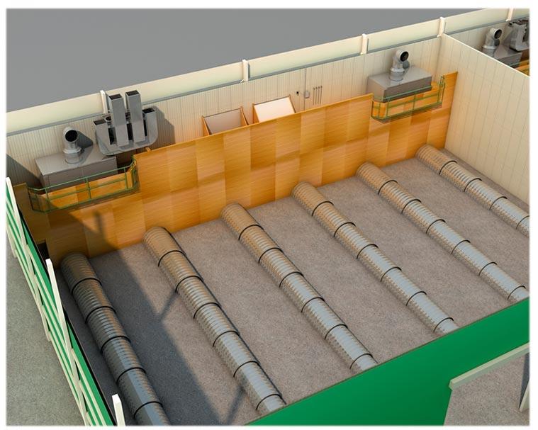sistemas de refrigeración para cámaras de almacenaje a granel